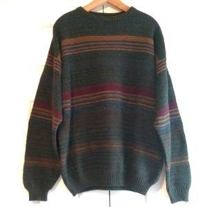 Oversized Grandpa Sweater Cozy Striped XL